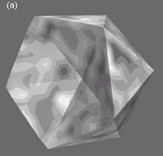Osmotically induced deformation of capsid-like icosahedral vesicles