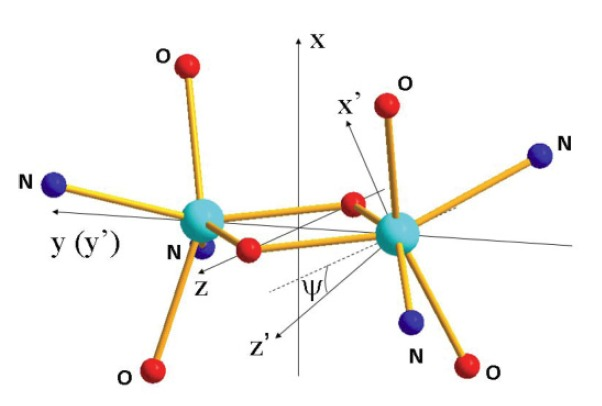 Local magnetic moments in a dinuclear Co2+ complex as seen by polarized neutron diffraction:Beyond the effective spin-1/2 model