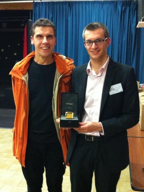Remise du Prix Besson de la thèse en Haute Pression à Dimitri Saffré de l'IRAMIS/SIS2M