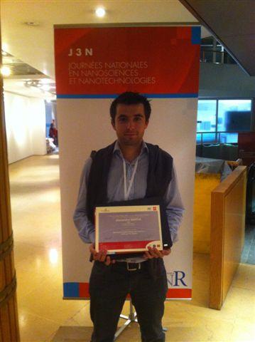 Prix de thèse de recherche finalisée C'Nano National 2012 attribué à Alexandre Garcia de l'IRAMIS/SPCSI