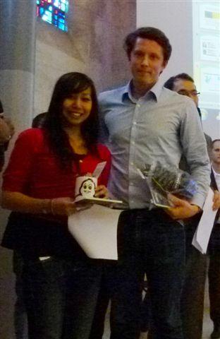 Prix Michelin décerné à Claire Soum, lors de la journée de l'Ecole Doctorale des Sciences Chimiques de Bordeaux
