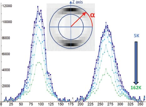 Stress-induced magnetic textures and fluctuating chiral phase in MnGe chiral magnet