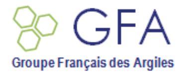 Prix de la meilleure communication étudiante / Best oral communication  - 14ème colloque annuel du Groupe Français des Argiles (GFA), à Maxime Lainé