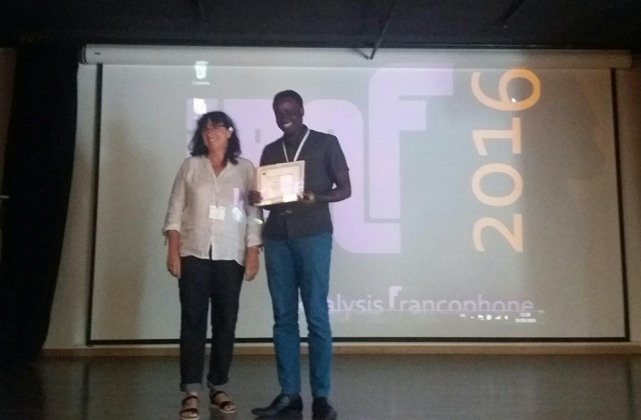 Prix de la meilleure présentation orale à Mamour Sall lors de la 6ème rencontre IBAF