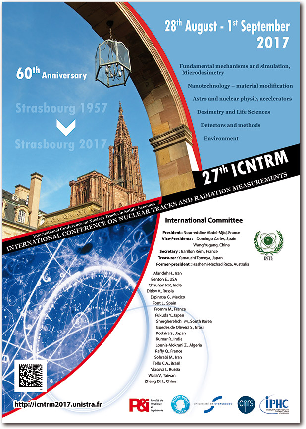 27th International Conference on Nuclear Tracks and Radiation Measurements