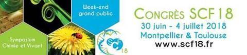 Sur votre agenda : Société Chimique de France : congrès national SCF18, du 30 juin au 4 juillet 2018 en Occitanie...