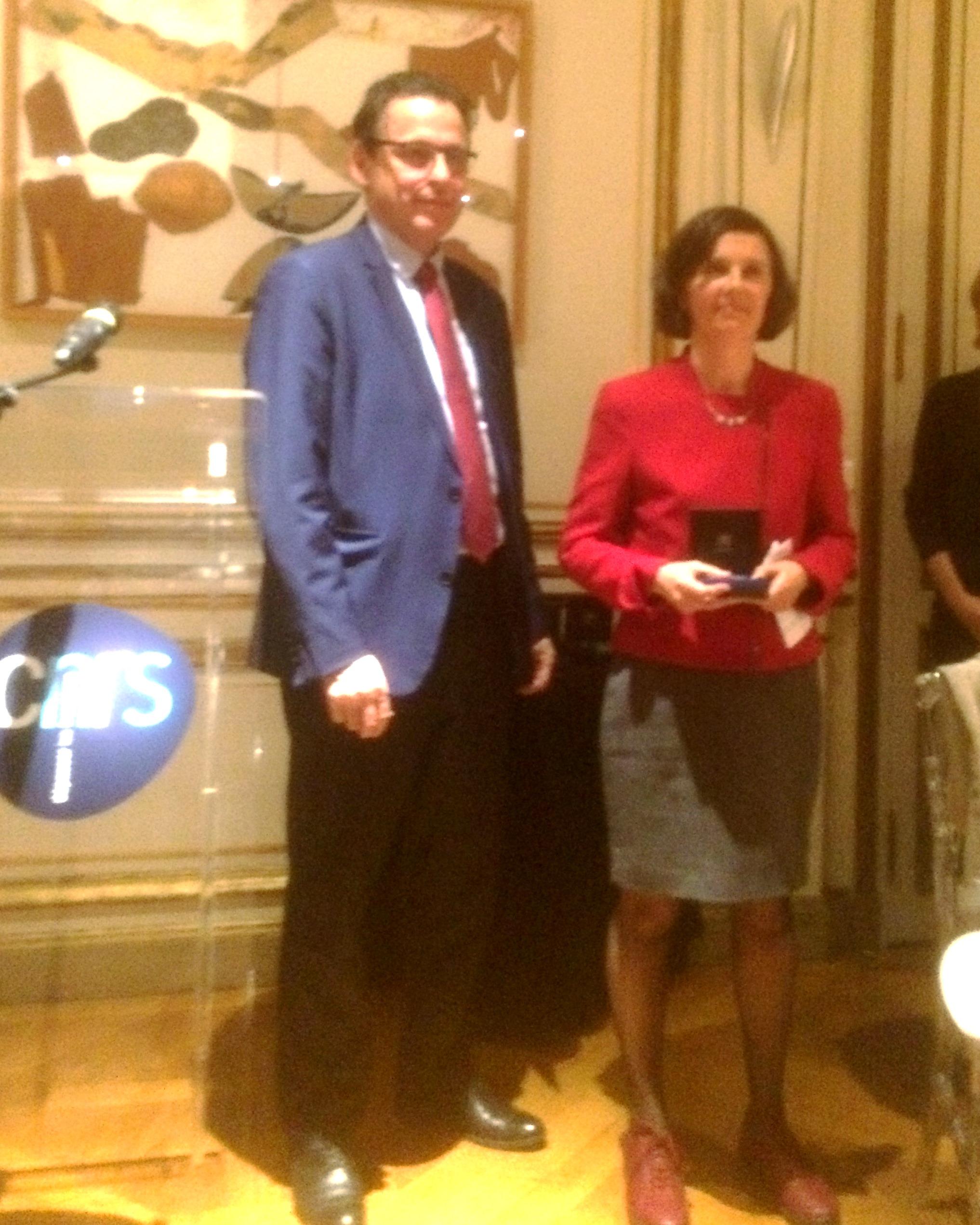 Remise de la Médaille d'argent 2017 du CNRS à  Bérengère Dubrulle