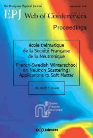 New volume released from the SFN collection on neutron scattering schools : Applications to soft matter
