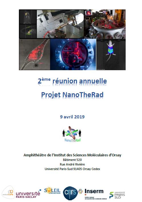 Sur vos agendas : NanoTherad,  2ème réunion annuelle le 9 avril 2019