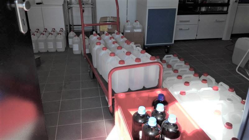 L'Iramis/NIMBE contribue à la production de solution hydro-alcoolique au CEA Saclay