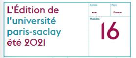 Le LIDYL contribue à un article de L'Edition n° 16 de l'Université Paris-Saclay (été 2021)