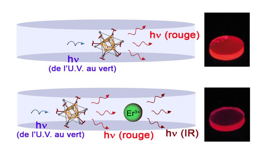 Sources de lumière nano-composite organique/inorganique, pour le transport de l\'information