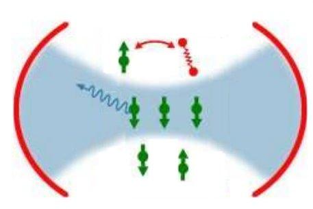 Hyperpolarisation de spins électroniques par refroidissement radiatif