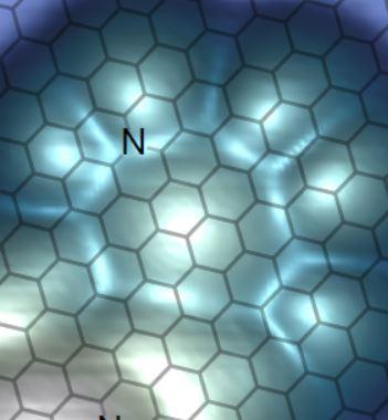 Visualiser la réduction d'une molécule sur du graphène dopé