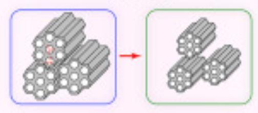 Fermer les nanopores dans la silice pour encapsuler des radionucléides