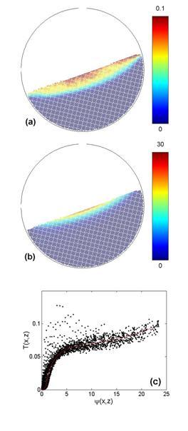 Granular surface flows: Investigation through numerical simulations