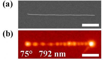 Nanoelectronics: in situ observation of light compression in plasmons