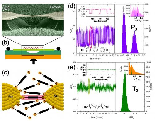 Statistical study of the conductance of molecular junctions reveals the role of the interfaces