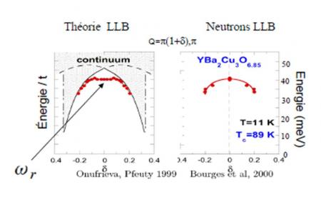 High Tc supraconductivity and spin waves fluctuations