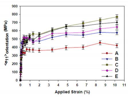 Measurement of strain heterogeneities by neutron diffraction