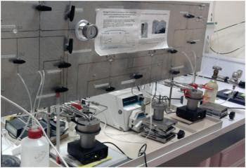 Laboratory re-corrosion experiments using stables isotopes in NIMBE/LAPA