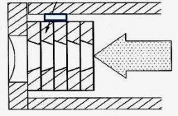 Brevet: : Dispositif optique pour analyser un échantillon par diffusion d'un faisceau de rayons X, dispositif de collimation et collimateur associes
