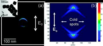 Imagerie photochimique du champ proche optique de nanocubes d'or