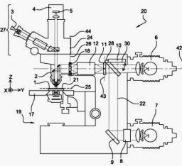 Brevet: Dispositif de projection homothétique d\'un motif a la surface d\'un échantillon, procédé de lithographie utilisant un tel dispositif.