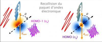 Observer la dynamique électronique dans une molécule à l\'échelle de l\'attoseconde (10-18 - 10-15 s)