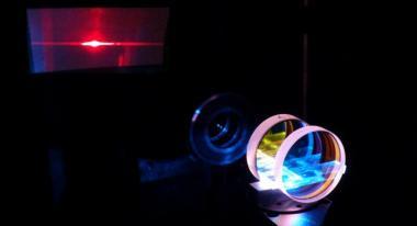 Red and Orange Pr :YLF planar waveguide laser