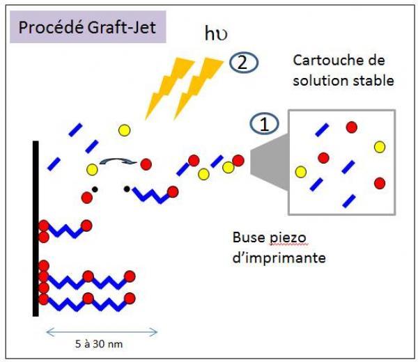 Pistes métallisées : un greffage chimique à la vitesse de la lumière