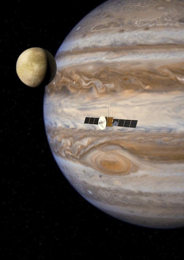 Astrochimie : formation de molécules sur Europa par implantation d\'ions
