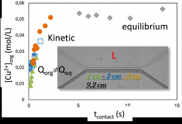 Liquid-liquid extraction: Interface and extractant self-assembling properties.