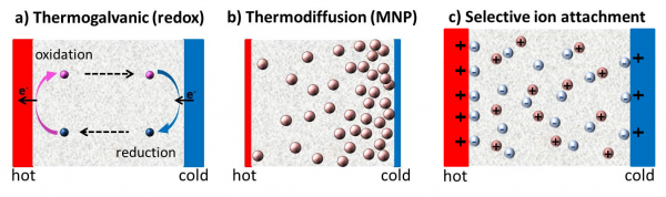 Thermoelectricity in complex fluids
