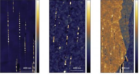 Structuration de surface par irradiation d'ions rapides