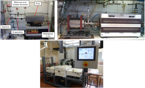 CVD pour la synthèse de nanotubes de carbone verticalement alignés et de graphène