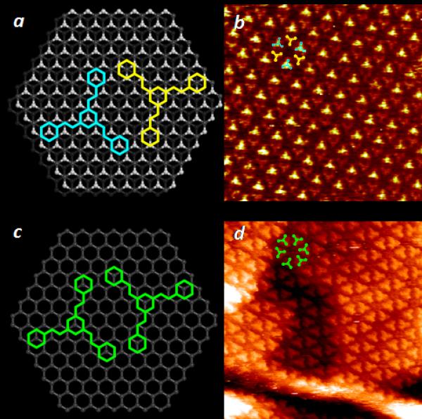 Contrôle de la réponse électronique de molécules par leur positionnement à l'échelle sub-atomique sur le graphite