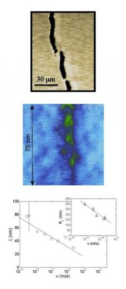 Role of damage in the selection of the scaling properties of fracture surfaces: Experimental evidences and theoretical interpretation