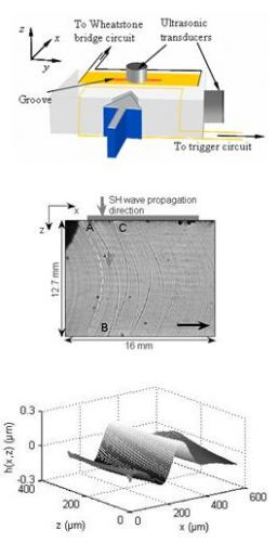 Dynamic crack response to a localized shear pulse perturbation in brittle amorphous materials
