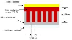 Hybrid organic solar cells based on silicon nanowires