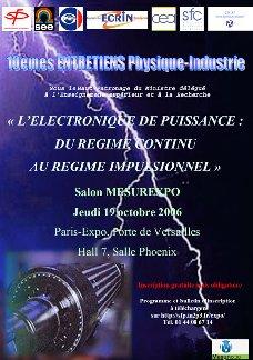 10èmes entretiens Physique-Industrie : Electronique de Puissance : du régime continu  au régime impulsionnel
