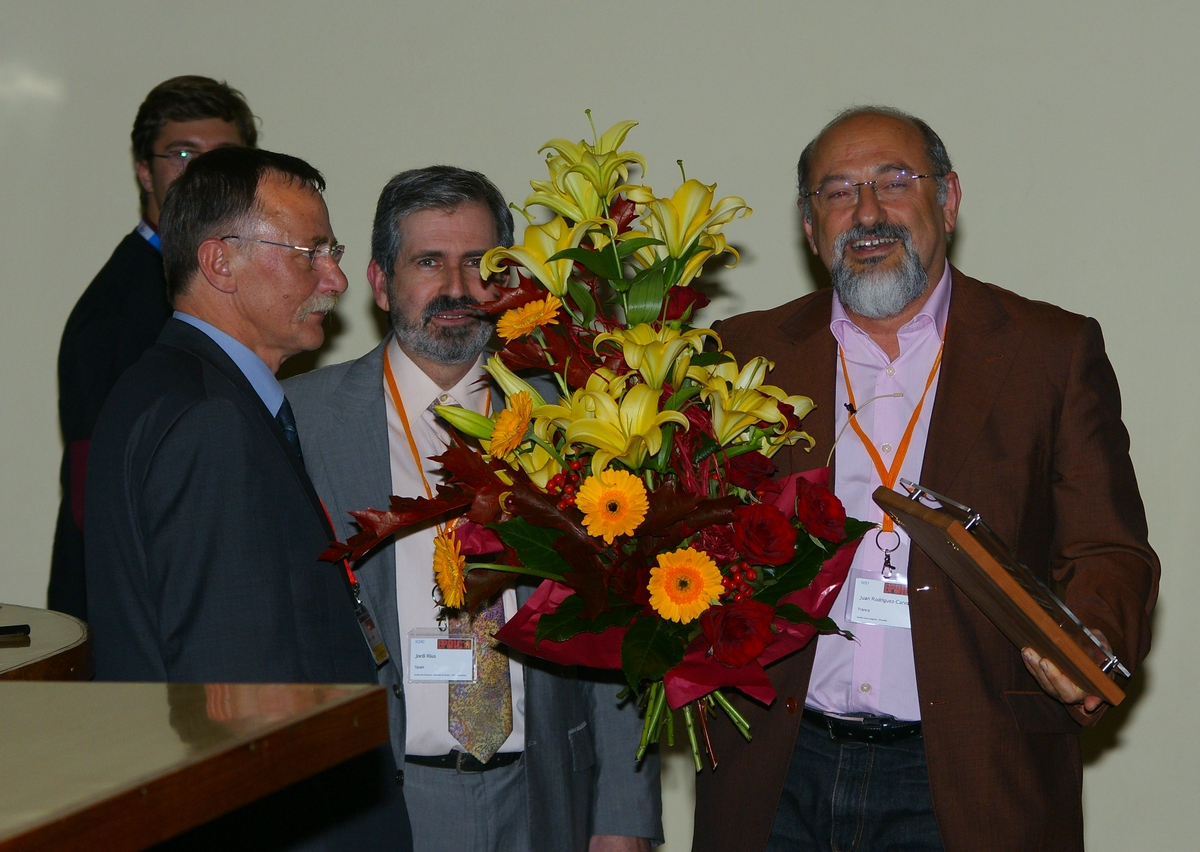 Distinguished Powder Diffractionists award to Juan Rodriguez-Carvajal