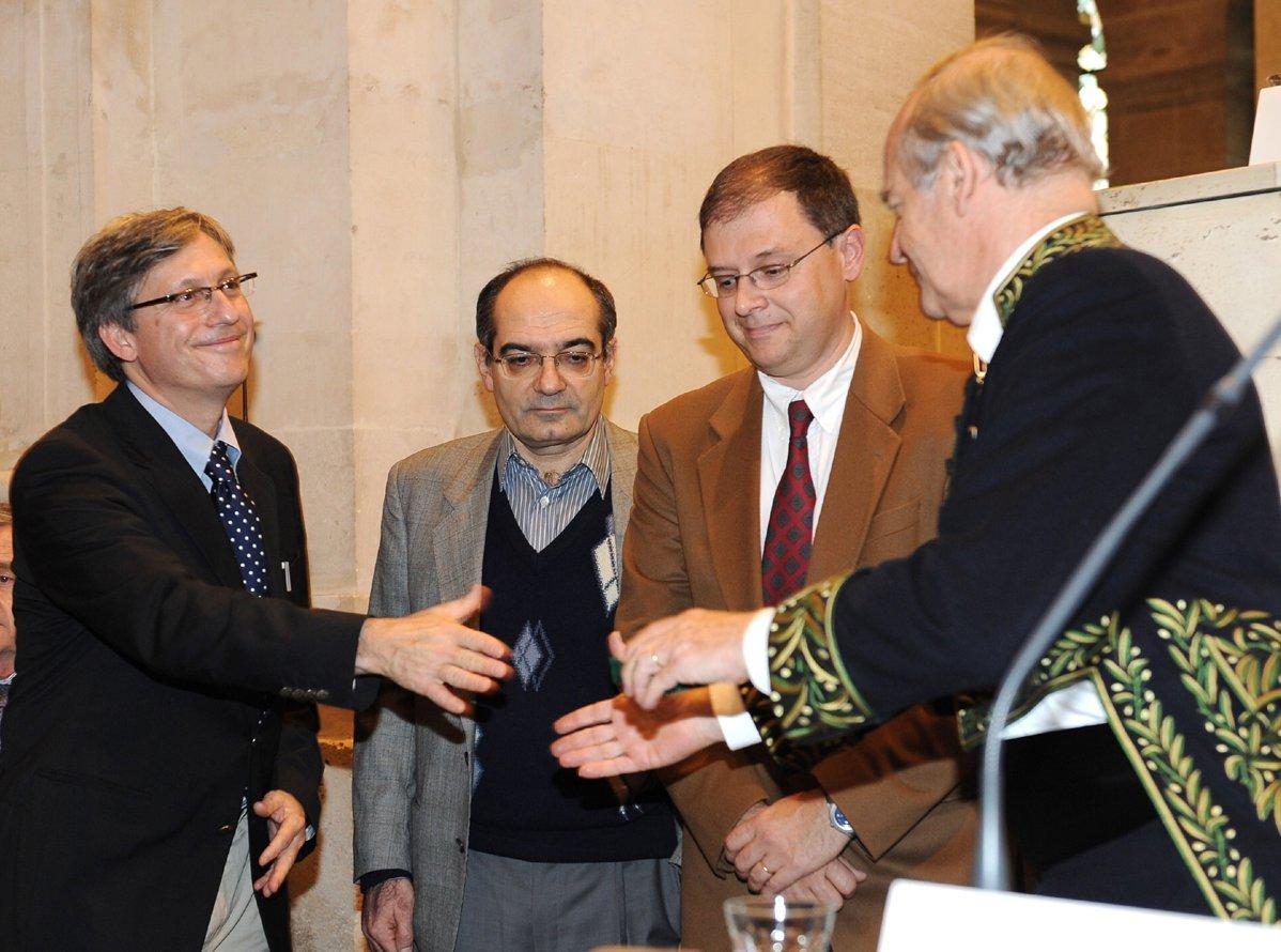 L'Académie des Sciences décerne le Grand Prix du CEA, à F. Daviaud, S. Fauve et J.-F. Pinton