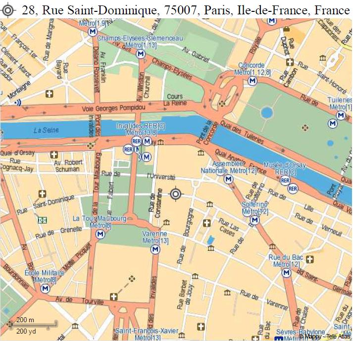 Depuis l 39 a roport cdg prendre le rerb jusqu 39 chatelet for 28 rue saint dominique maison de la chimie